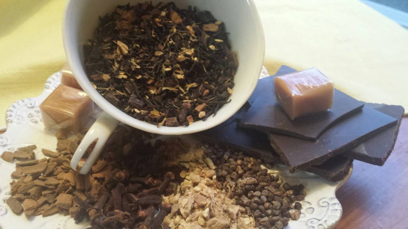 Spicy Chocolate Caramel Chai 2oz loose or 15 teabags image 0