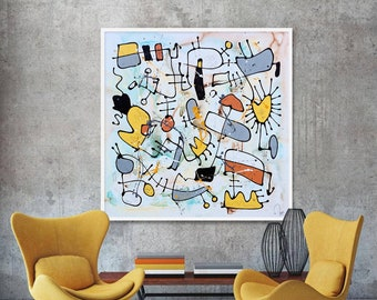In The Wild - Huge Original Unique Contemporary Abstract Modern Painting Fine Art by Merv