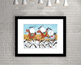 """""""Sheeple Chase"""" (Limited Edition Print)"""