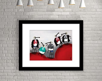 """Members Of The Baa"" (Limited Edition Print)"