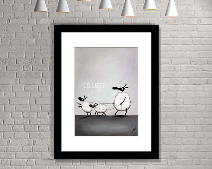 """Featured listing image: """"Pet Sheep Boys"""" (Limited Edition Print)"""