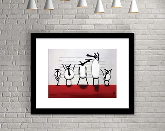 """The Un-ewe-sual Suspects"" (Limited Edition Print)"