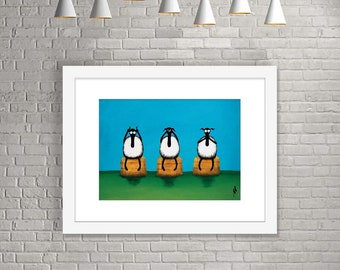 """Ewe Hear, See, Speak No Evil"" (Limited Edition Print)"
