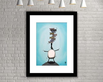 """Baalancing The Books"" (Limited Edition Print)"