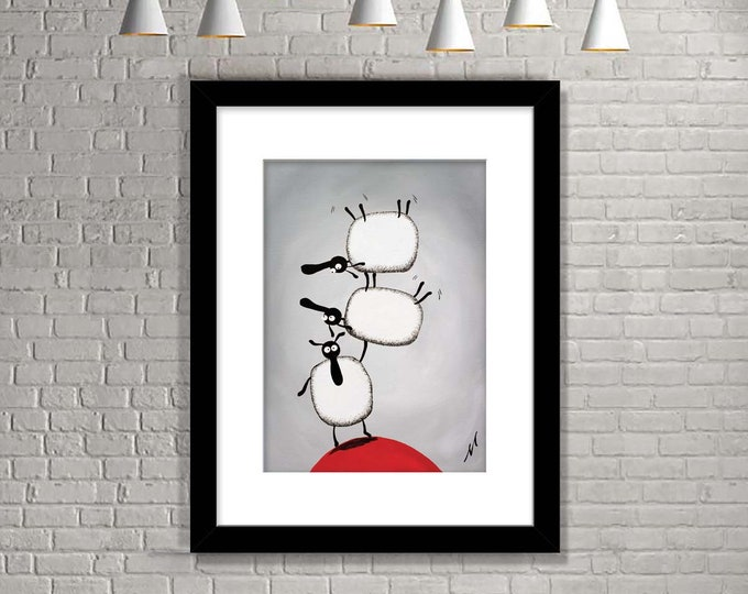 """Featured listing image: """"Raising The Baa"""" (Limited Edition Print)"""