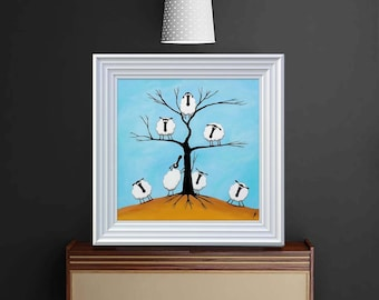 """Ewe Tree"" (Ready Framed) Original"