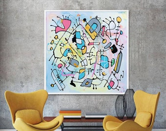 Spring Awakening - Huge Original Unique Contemporary Abstract Modern Painting Fine Art by Merv