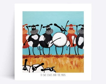H-ewe Lewis And The Moos - Quirky Square Print