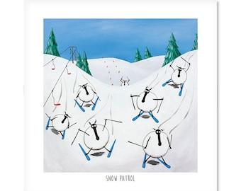 "Snow Patrol - 8"" x 8"" Quirky Sheep ART Print"