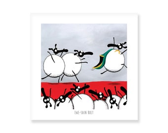 Ewe-sain Bolt - Quirky Square Print