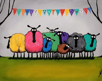"""Mardi Baa"" Original Painting"