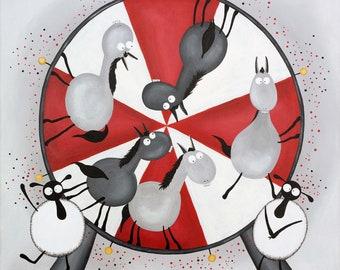 """""""Naggy-Go-Round"""" Original Painting"""
