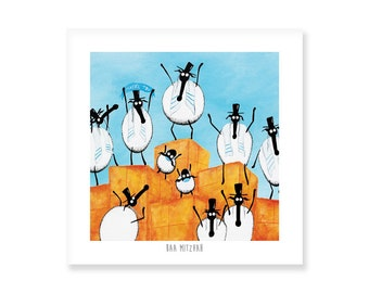 Baa Mitzvah - Quirky Square Print