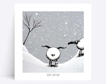 Ram's Bottom - Quirky Square Print