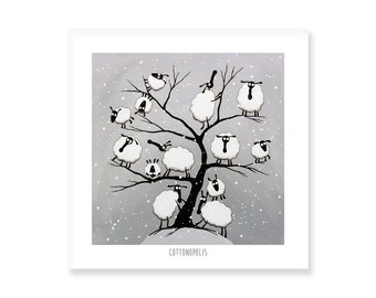 Cottonopolis - Quirky Square Print