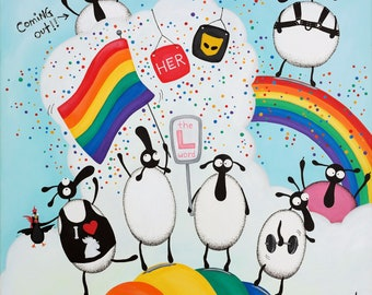 """""""Gays And Baasexuals"""" Original Painting"""