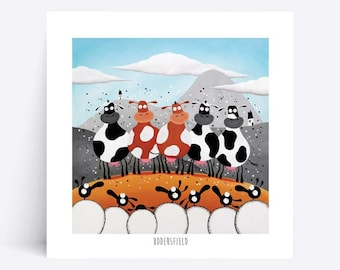 Uddersfield - Quirky Square Print