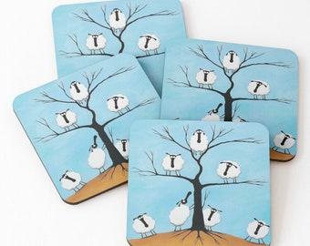 Ewe Tree Coaster - last two!