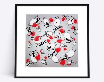 Loving Ewe limited edition print