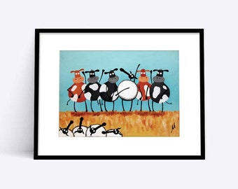 """H-ewe Lewis And The Moos"" (Limited Edition Print)"