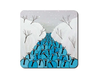 Winter Blues Coaster
