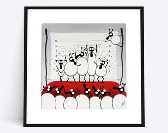 """""""The Un-ewe-sual Suspects"""" (Limited Edition Print)"""