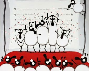 The Un-ewe-sual Suspects Original Painting