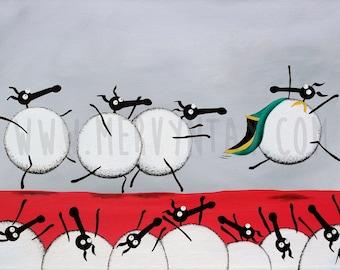 """Ewe-Sain Bolt"" Original Painting"