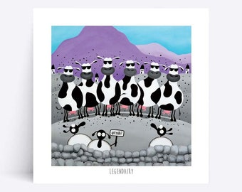 Legendairy - Quirky Square Print