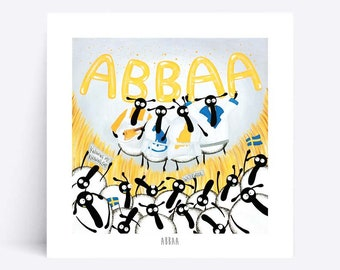 Abbaa - Quirky Square Print