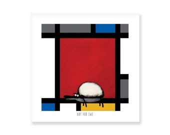 Art For Ewe - Quirky Square Print