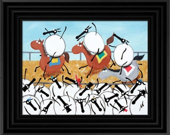 """Sheeple Chase"" (Ready Framed) Original"