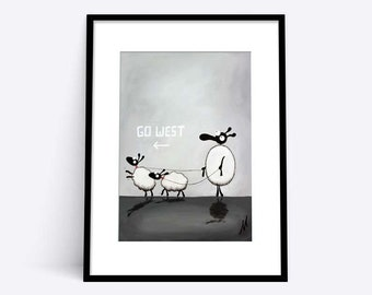 """Pet Sheep Boys"" (Limited Edition Print)"