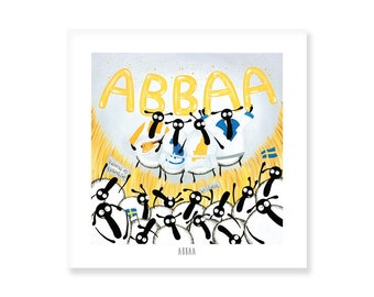 Abbaa - Quirky Square Print