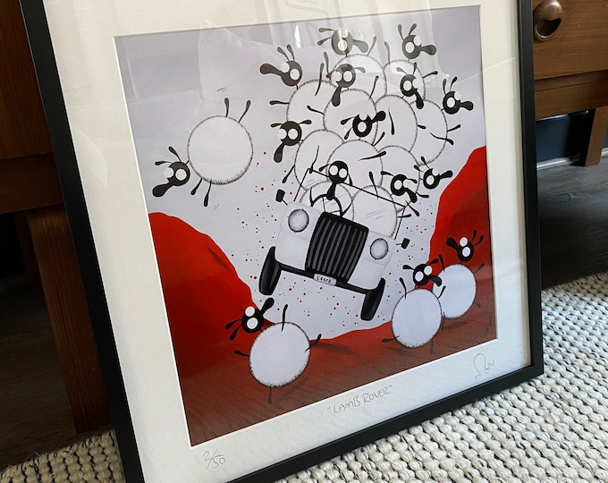 """""""Lamb Rover"""" - 20"""" x 20"""" FRAMED Limited Edition Print"""