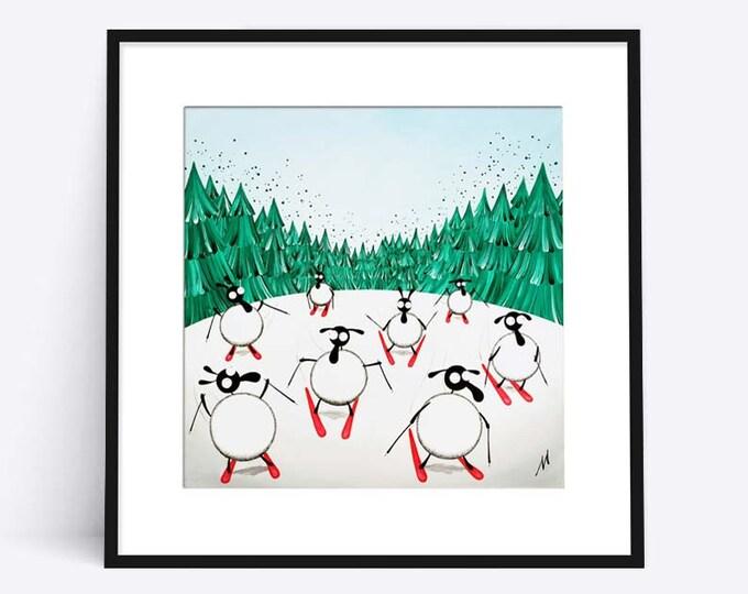 """""""Ski Ewe Later"""" (Limited Edition Print)"""