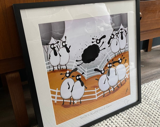 """""""There Is Always One Of Them"""" (20"""" x 20"""" FRAMED Limited Edition Print"""