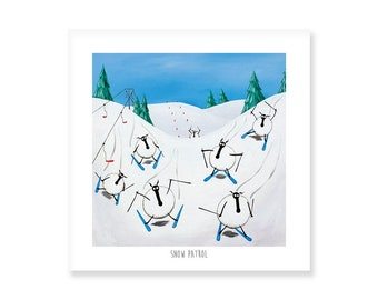 Snow Patrol - Quirky Square Print