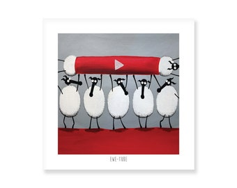 Ewe-Tube - Quirky Square Print