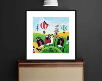 """""""Made In Yorkshear"""" (20"""" x 20"""" FRAMED Limited Edition Print)"""