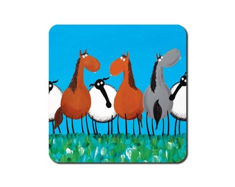 Only Ewes And Horses Coaster