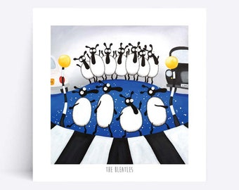 The Bleatles - Quirky Square Print