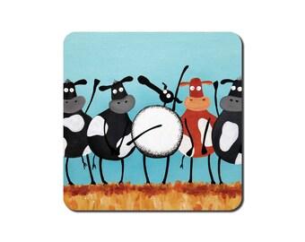 H-ewe Lewis And The Moos Coaster