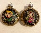 Zelda Glass Ornaments Set of 2