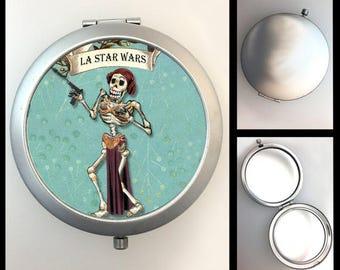 Compact Mirror Skeleton Princess Leia #426