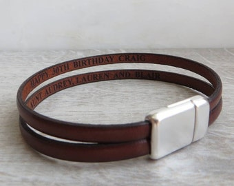 Secret Message Double Strap Bracelet