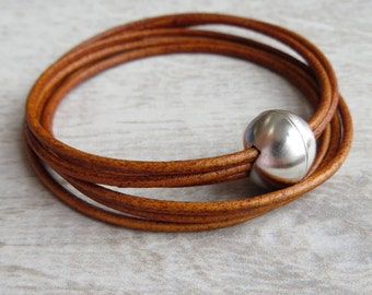 Real Leather Cord Bracelet (Mallory)