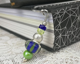 Bright bookmarks Lampwork bookmarks Bookmark Book lover gift Metal bookmark Unique bookmarks Beaded bookmarks Bead page marker