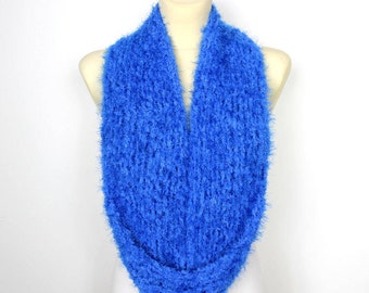 Blue Snood for Women Chunky Knit Infinity Snood Scarf Chunky Knit Scarf Women Snoods for Women Gift Womens Scarves Mother Day from Daughter