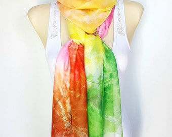 Lightweight silk scarf women Large and long scarves for women Silk scarfs women Handmade womens scarf wrap 19 Best gifts for her birthday